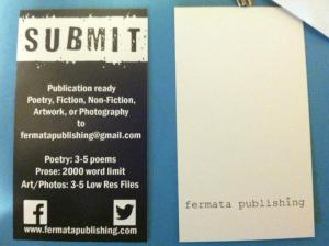 Fermata Publishing Bookmarks are now in!  Keep your eyes out for more mech and publications coming your way soon.